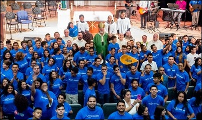 Atrevete rally for Hispanic youth in the Archdiocese of Boston, held at Fontbonne Academy, July 8, 2017. Pilot photo/ Donis Tracy