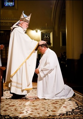Ordination of permanent deacons at St. Edith Stein Parish in Brockton, Sept. 30, 2017. Pilot photo/ Gregory L. Tracy