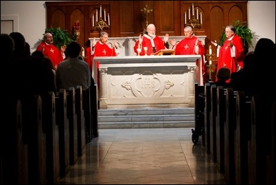 The 2017 Red Mass sponsored by the Lawyers' Guild of the Archdiocese of Boston, celebrated by the Cardinal Seán P. O'Malley at Our Lady of Good Voyage Chapel Oct. 22, 2017. Pilot photo/ Gregory L. Tracy