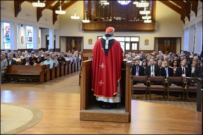 Cardinal Preaching at Deacon Convocation Mass