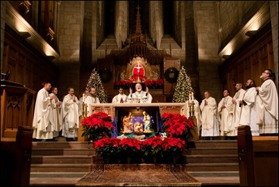2017 New Year's Eve Mass at St. Clement Eucharistic Shrine in Boston. Pilot photo/ Mark Labbe