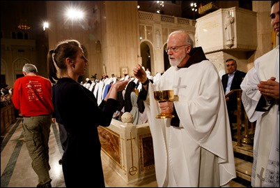 Cardinal Sean P. O'Malley concelebrates the Vigil Mass for Life at the Basilica of the National Shrine of the Immaculate Conception in Washington, D.C., Jan. 18, 2018. Pilot Photo/ Gregory L. Tracy