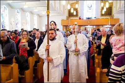 First celebration of the Rite of the Election and Call to Continuing Conversion Immaculate Conception Church in Malden, Feb. 18, 2018. Pilot photo/ Mark Labbe