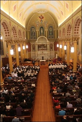 Scene from the choir loft