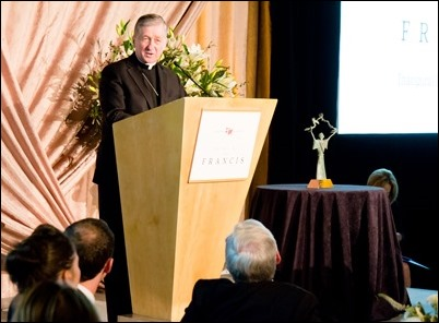 Catholic Extension's inaugural Boston Spirit of St. Francis award dinner honoring Father William P. Leahy, S.J. President of Boston College held Tuesday, March 20, 2018 at the Mandarin Oriental, Boston. Pilot photo/ Mark Labbe