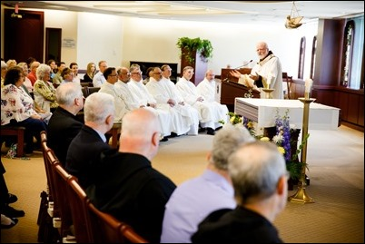 Mass and reception for jubilarian priests and brothers and the archdiocese's Pastoral Center, May 30, 2018. Pilot photo/ Gregory L. Tracy