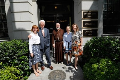 Lynch Garden Dedication - Family members with Cardinal Sean O'Malley