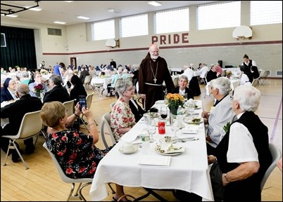 Mass and reception for women religious jubilarians, Sept. 16, 2018. Pilot photo/ Gregory L. Tracy