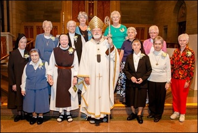 Mass for Women Religious Jubliarians celebrated at St. Theresa of Avila Parish, West Roxbury, Sept. 16, 2018. Pilot photo/ Gregory L. Tracy