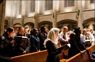 Cardinal O'Malley celebrates New Year's Eve Mass at St. Clement Eucharistic Shrine in Boston's Back Bay Dec. 31, 2018. Pilot photo/ Jacqueline Tetrault