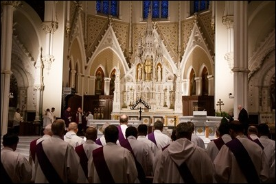 Celebration of Tenebrae at the Cathedral of the Holy Cross, April 17, 2019. Pilot photo/ Antonio M. Enrique