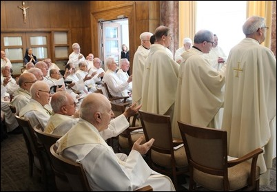 50th Jubilee Mass at Regina Cleri, June 4, 2019. Photo by Joe Austin, BCDS